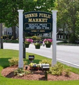 Dennis Public Market Street Sign