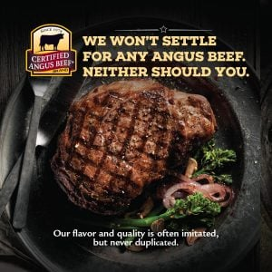 Certified Angus Beef - We don't settle for any angus beef neither should you